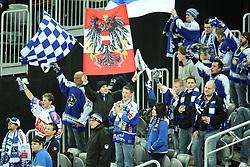15.01.2012, Arena Zagreb, Zagreb, CRO, EBEL, KHL Medvescak Zagreb vs EC REKORD Fenster VSV, im Bild Fans des VSV // during the Erste Bank Icehockey League Match KHL Medvescak Zagreb vs EC REKORD Fenster VSV at the Arena Zagreb, Zagreb, Croatia, 2012-01-15, EXPA Pictures © 2012, PhotoCredit: EXPA/ nph/ Pixsell.***** ATTENTION - OUT OF GER, CRO *****