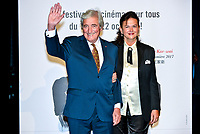 Jean Lou Dabadie and his wife attend lumiere award ceremony during 9th Film Festival in Lyon, October 20, 2017