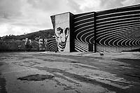 """AGROPOLI (SA) - 4 FEBBRAIO 2018: Il teatro """"Eduardo De Filippo"""" di Agropoli, inaugurato durante l'amministrazione dell'ex sindaco Franco Alfieri, oggi candidato alla Camera dei Deputati nel collegio uninominale di Agropoli (Campania) il 4 febbraio 2018.<br /> <br /> Le elezioni politiche italiane del 2018 per il rinnovo dei due rami del Parlamento – il Senato della Repubblica e la Camera dei deputati – si terranno domenica 4 marzo 2018. Si voterà per l'elezione dei 630 deputati e dei 315 senatori elettivi della XVIII legislatura. Il voto sarà regolamentato dalla legge elettorale italiana del 2017, soprannominata Rosatellum bis, che troverà la sua prima applicazione<br /> <br /> ###<br /> <br /> AGROPOLI, ITALY - 4 FEBRUARY 2018: The theatre """"Eduardo De Filippo"""", inaugurated by former mayor of Agropoli Franco Alfieri, now running for the Chamber of Deputies in the 2018 Italian General elections, is seen here in Agropoli, Italy, on February 4th 2018.<br /> <br /> The 2018 Italian general election is due to be held on 4 March 2018 after the Italian Parliament was dissolved by President Sergio Mattarella on 28 December 2017.<br /> Voters will elect the 630 members of the Chamber of Deputies and the 315 elective members of the Senate of the Republic for the 18th legislature of the Republic of Italy, since 1948."""