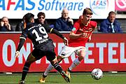Manu Garcia Alonso of NAC Breda, Jeremy Helmer of AZ Alkmaar
