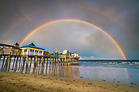 An incredible double rainbow appeared over the Pier at Old Orchard Beach after a summer rainstorm. I was with a workshop group and everyone was eurphoric after literally chasing this storm across Old Orchard.