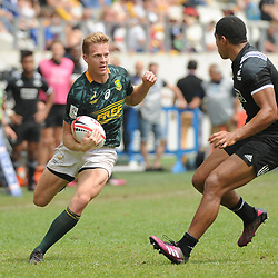 Dylan Sage of South Africa during the Semi Final match between New Zealand and South Africa at the HSBC Paris Sevens, stage of the Rugby Sevens World Series at Stade Jean Bouin on June 10, 2018 in Paris, France. (Photo by Sandra Ruhaut/Icon Sport)