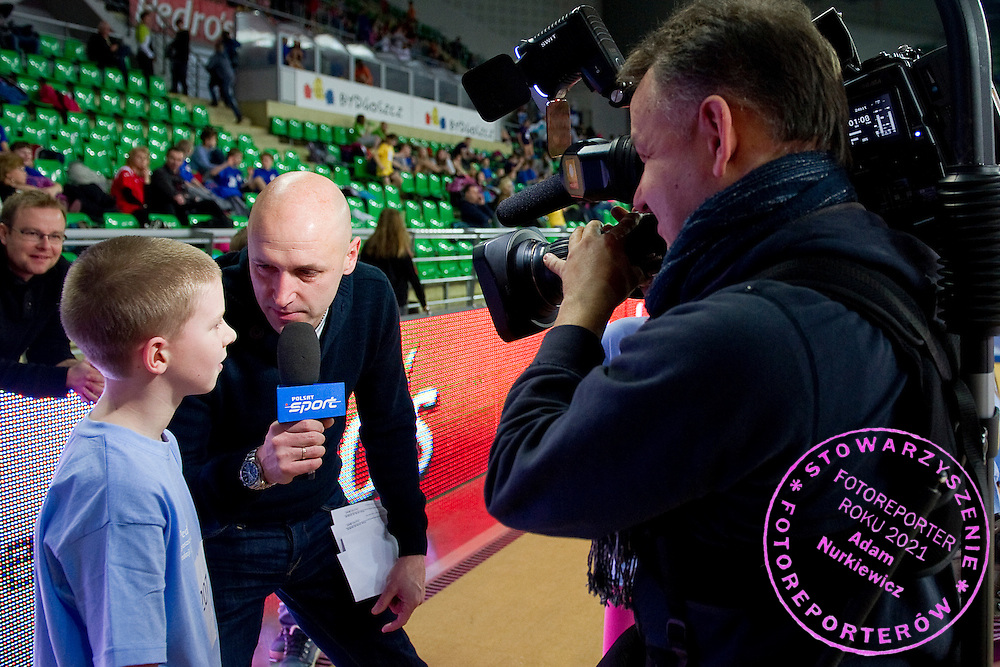Pawel Januszewski while children competition during athletics meeting Youth Pedro's Cup 2014 2014 at Luczniczka Hall in Bydgoszcz, Poland.<br /> <br /> Poland, Bydgoszcz, January 31, 2014.<br /> <br /> Picture also available in RAW (NEF) or TIFF format on special request.<br /> <br /> For editorial use only. Any commercial or promotional use requires permission.<br /> <br /> Mandatory credit:<br /> Photo by &copy; Adam Nurkiewicz / Mediasport