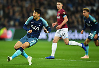 Football - 2018 / 2019 EFL Carabao (League) Cup - Fourth Round: West Ham United vs. Tottenham Hotspur<br /> <br /> Tottenham Hotspur's Son Heung-Min scores the opening goal, at the London Stadium<br /> <br /> COLORSPORT/ASHLEY WESTERN