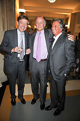 Left to right, HENRY KELLY, SIMON PARKER BOWLES and RICHARD CARING at the opeing of Green's Restaurant & Oyster Bar, 14 Cornhill, London EC3 on 1st September 2009.