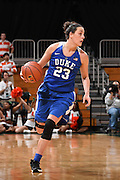 February 7, 2016: Rebecca Greenwell #23 of Duke in action during the NCAA basketball game between the Miami Hurricanes and the Duke Blue Devils in Coral Gables, Florida. The 'Canes defeated the Blue Devils 61-53.