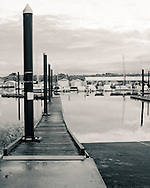a dock on Scappoose Bay at sunset - Scappoose, OR