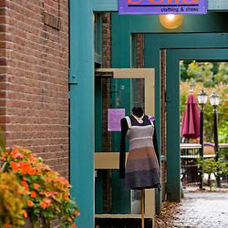 Street scene in Hanover, New Hampshire.