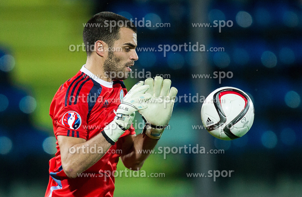 Aldo Simoncini of San Marino during football match between National teams of San Marino and Slovenia in Group E of EURO 2016 Qualifications, on October 12, 2015 in Stadio Olimpico Serravalle, Republic of San Marino. Photo by Vid Ponikvar / Sportida