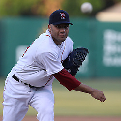 March 14, 2011; Fort Myers, FL, USA; Boston Red Sox pitcher Alfredo Aceves (91) during a spring training exhibition New York Yankees at City of Palms Park.   Mandatory Credit: Derick E. Hingle