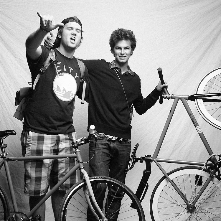 San Jose Bike Party, The Rocky Horror Ride. Bike Party Photo Studio. Photo by Scott MacDonald, scottmacdonaldphotography.com
