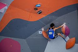 August 24, 2018 - Palembang, South Sumatera, Indonesia - Jakabaring, Palembang, Indonesia, 24 August 2018 : Men and Women combined climbing qualification competition at Jakabaring-Palembang. (Credit Image: © Donal Husni/ZUMA Wire)
