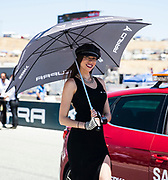 Jun 23  2018  Monterey, CA, U.S.A  SBK girl standing  during the Motul FIM World Superbike Race # 1 at Weathertech Raceway Laguna Seca  Monterey, CA  Thurman James / CSM
