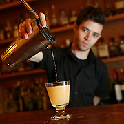 Beverage director Andy Shay prepares the Hemingway Daiquiri at Big Jones on Friday, June 21, 2013 in Wheaton. (Brian Cassella/Chicago Tribune)  B583010169Z.1 <br /> ....OUTSIDE TRIBUNE CO.- NO MAGS,  NO SALES, NO INTERNET, NO TV, CHICAGO OUT, NO DIGITAL MANIPULATION...