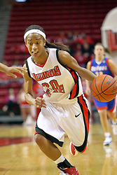 25 November 2007: Tiffany Hudson drives for the hoop. The DePaul Blue Demons defeated the Illinois State Redbirds 80-75 on Doug Collins Court at Redbird Arena in Normal Illinois