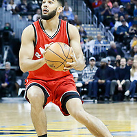 18 November 2016: Toronto Raptors guard Cory Joseph (6) eyes the basket during the Toronto Raptors 113-111 OT victory over the Denver Nuggets, at the Pepsi Center, Denver, Colorado, USA.
