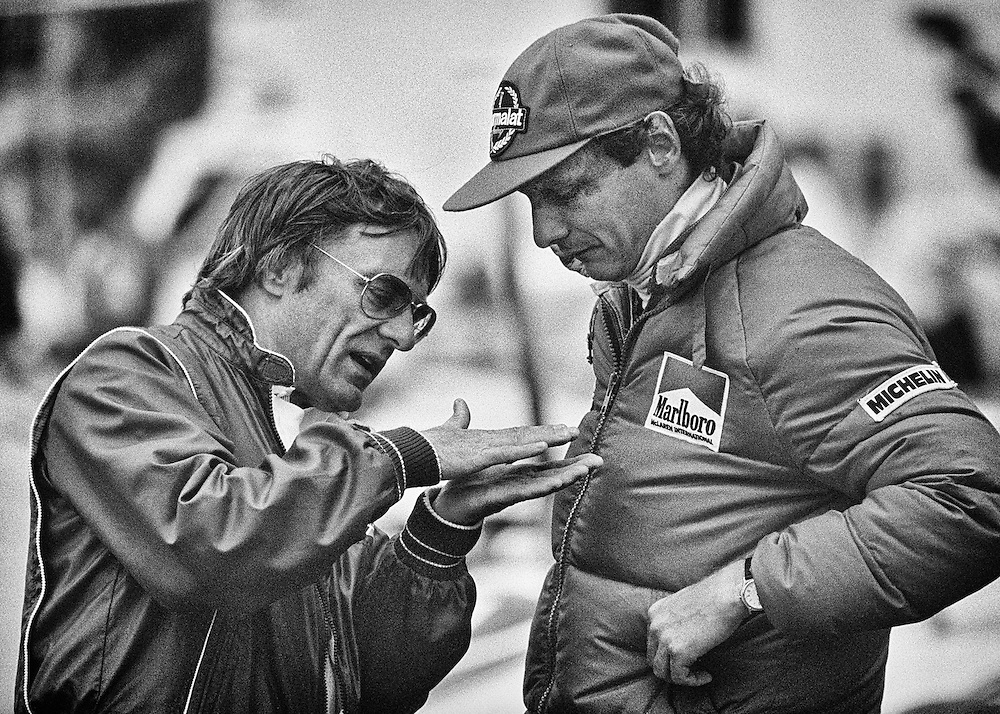 For the past 35 years, three-time World Champion Niki Lauda and Formula One CEO Bernie Ecclestone have had a tremendously strong friendship. Beginning before 1978, when Lauda left Ferrari to join Ecclestone's Brabham Alfa Romeo team, they have maintained enormous respect, albeit grudgingly for each other's opinions.<br /> <br /> Here, they discuss the severe bumps that were affecting cars around the 1982 Detroit Grand Prix circuit. As a major spokesperson for driver's safety, Lauda knew he always had an inside approach to getting Ecclestone's ear.
