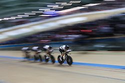 February 28, 2019 - Pruszkow, Poland - Samuel Welsford (AUS) Kelland O'Brien (AUS) Leigh Howard (AUS) Alexander Porter (AUS) - Men's team pursuit on day two of the UCI Track Cycling World Championships held in the BGZ BNP Paribas Velodrome Arena on February 28, 2019 in Pruszkow, Poland. (Credit Image: © Foto Olimpik/NurPhoto via ZUMA Press)