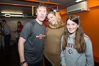 13/09/2015  Hector OhEochagain  with Jocelyn and Ellen Cunningham at the official opening of the body works  a gym in Galway city.<br /> Photo:Andrew Downes, xposure<br /> <br /> The Body Works Galway is Galway&rsquo;s newest fitness studio. We are located adjacent to Parkmore in Briarhill Business park about a seven minute walk from the Parkmore Industrial Estate and Briarhill Shopping Centre.<br /> <br /> The fitness studio consists of a spinning studio at ground floor and a fitness studio at first floor where we provide classes in Kettlebells, Pilates, Yoga,TRX, Body Pump and Circuits . We have 16 spinning bikes (cardio machines) in our spinning studio.