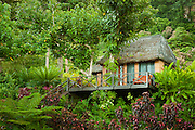 """Treehouse"" guest lodging at Matangi Private Island Resort, Fiji."