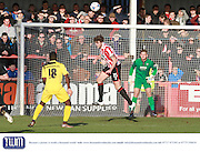 Cameron Burgess during the Vanarama National League match between Cheltenham Town and Bromley at Whaddon Road, Cheltenham, England on 30 January 2016. Photo by Antony Thompson.