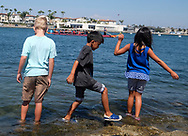 Children watch as dragon boat racers prepare to compete at Long Beach Dragon Boat Festival at Marine Stadium in Long Beach, California, on July 30, 2017. (Photo by Ringo Chiu)<br /> <br /> Usage Notes: This content is intended for editorial use only. For other uses, additional clearances may be required.