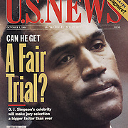 US News and World Report cover on OJ Simpson criminal trial.