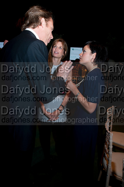 DAMIAN ASPINALL; JEMIMA KHAN; LILY ALLEN, The Ormeley dinner in aid of the Ecology Trust and the Aspinall Foundation. Ormeley Lodge. Richmond. London. 29 April 2009