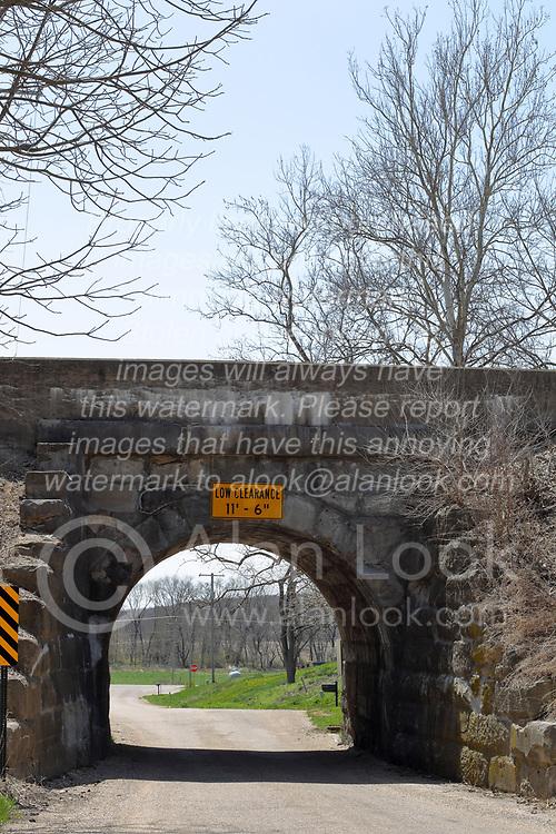 Stone railroad bridge