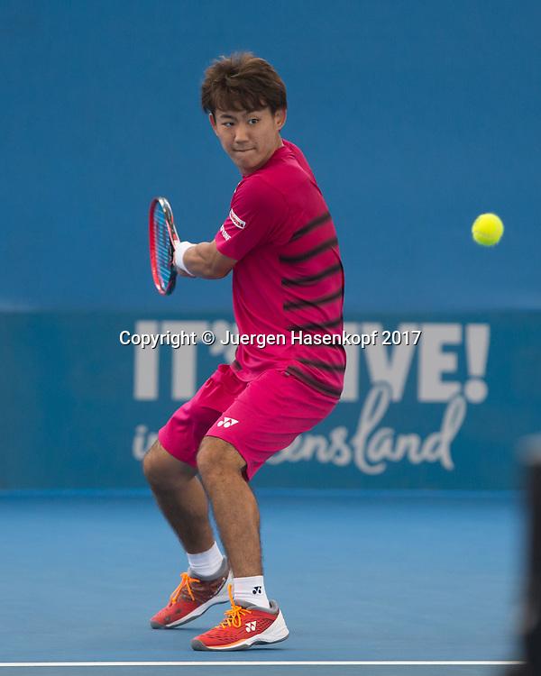 YOSHIHITO NISHIOKA (JPN)<br /> <br /> Tennis - Brisbane International  2017 - ATP -  Pat Rafter Arena - Brisbane - QLD - Australia  - 3 January 2017. <br /> &copy; Juergen Hasenkopf