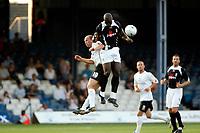 Photo: Marc Atkins.<br />Luton Town v Fulham. Pre Season Friendly. 21/07/2006.<br />Papa Douba Diop of Fulham wins the header.