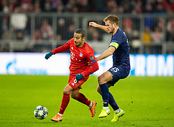 MUNICH, GERMANY - Wednesday, December 11, 2019: Bayern Munich's Thiago Alcántara (L) and Tottenham Hotspur's captain Eric Dier during the final UEFA Champions League Group B match between FC Bayern München and Tottenham Hotspur FC at the Allianz Arena. (Pic by David Rawcliffe/Propaganda)
