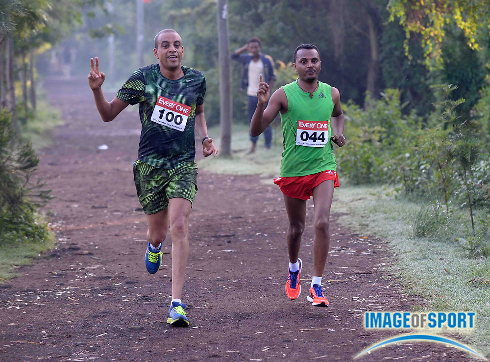 May 11, 2014; Hawassa, ETHIOPIA; Runners compete in the half marathon in the 2014 Every One campaign race. Photo by Jiro Mochizuki