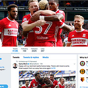 Bolton 0 Middlesbrough 3, on Middlesbrough FC  twitter feed.