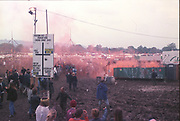 Field of Smoke, Glastonbury, 1992.
