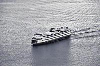 The MV Tacoma ferrying passengers and car back and forth between Seattle and Bainbridge Island.