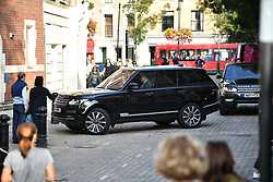 © Licensed to London News Pictures. 07/09/2017. London, UK. PRINCE GEORGE arrives by car at Thomas's Battersea in south London for his first day at School. Photo credit: Ben Cawthra/LNP