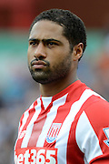 Glen Johnson during the Barclays Premier League match between Stoke City and Liverpool at the Britannia Stadium, Stoke-on-Trent, England on 9 August 2015. Photo by Alan Franklin.