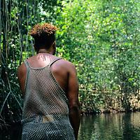 Caribbean, Jamaica. Jamaican River guide.