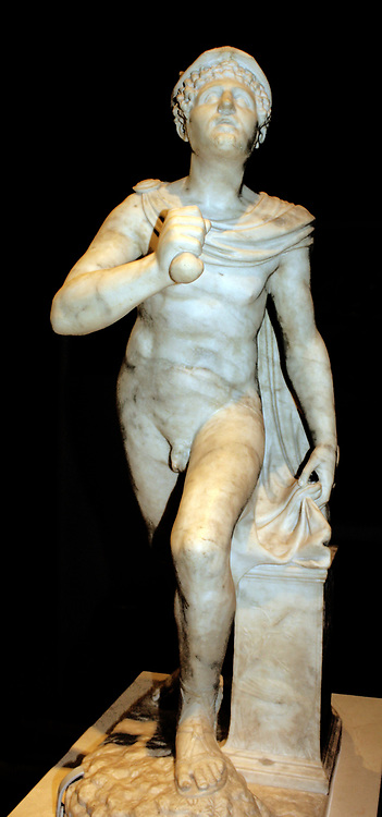 Statue of Mercury. Made Circa 1527 by Antonio Minelli for Venetian diplomat Antonio Minelli. Marble with bronze.