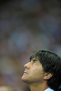 A dejected Joachim Low reflects during the UEFA EURO 2012 semi final match between Germany and Italy at the National Stadium on June 28, 2012 in Warsaw, Poland.