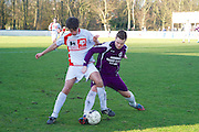 Leest. Voetbal. Leest - Wavria. L12 Daali Zakaria W11 Pollet Michael