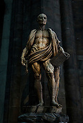 Milan, inside the Duomo Cathedral.<br />