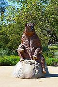 Short-Faced Bear Statue At The La Brea Tar Pits