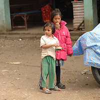 Children in a village on the way to Jiri, Nepal