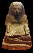 Scribe sitting cross-legged. 19th - 20th Dynasty, 1295-1069 BC J.C. diorite