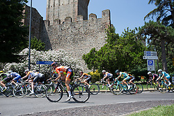Amalie Dideriksen (DEN) of Boels-Dolmans Cycling Team tackles a corner before the intermediate sprint during the Giro Rosa 2016 - Stage 3. A 120 km road race from Montagnana to Lendinara, Italy on July 4th 2016.