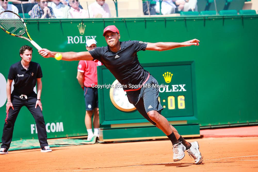 Jo Wilfried Tsonga - 14.04.2015 - Tournoi de Monte Carlo - Masters 1000 -<br />Photo : Serge Haouzi / Icon Sport