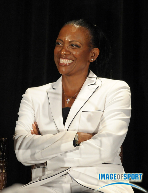 Mar 30, 2012; Austin, TX, USA; Texas Longhorns womens coach Beverly Kearney at the 6th annual Minority Mentorship Symposium at the AT&T Executive Education and Conference Center.