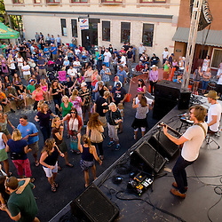 Jamestown Revival entertains a crowd in downtown Grand Junction Saturday evening. <br /> Photos by Brian Leddy